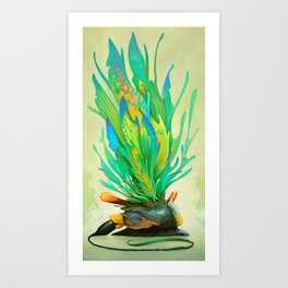 Feathered Tethridon Art Print