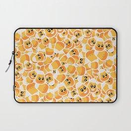 Candy Corn Emoji Pattern Laptop Sleeve