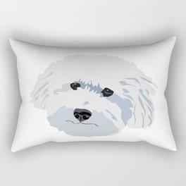 Bichon Poodle White Dog Fluffy Face Good Boy Rectangular Pillow
