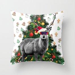 Christmas Deer Throw Pillow
