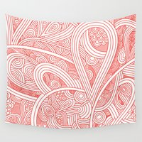 paisley Wall Tapestries featuring Paisley by Laurie Mildenhall