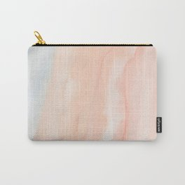 Peachy | An Abstract Watercolor Wash Carry-All Pouch