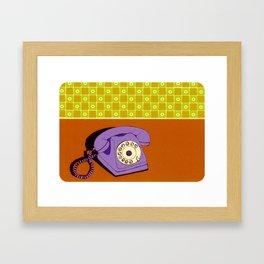 Phone with Wallpaper Framed Art Print