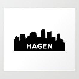 Hagen Skyline Art Print
