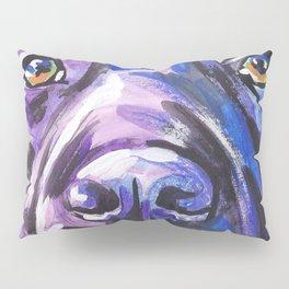 black Labrador Retriever Dog Pop Art by Lea Pillow Sham
