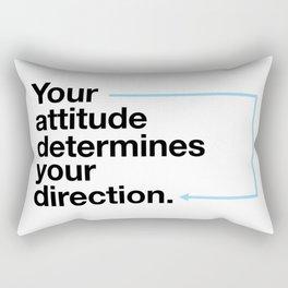 Attitude determines your direction Rectangular Pillow