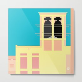 Wind-towers of Bastakiya by Dubai Doodles 003 Metal Print