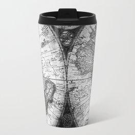 World Map Antique Vintage Black and White Travel Mug