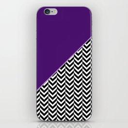 Chevron and Purple Print iPhone Skin