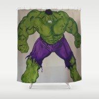 hulk Shower Curtains featuring Hulk  by Ellis Mural Designs