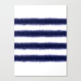 Indigo Stripes Canvas Print