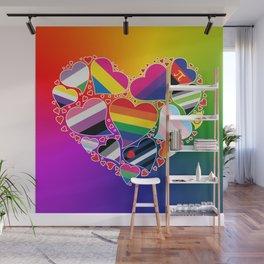 LGBTQA+ Community Pride Heart Wall Mural