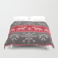 sweater Duvet Covers featuring Sweater Weather by K&C Design