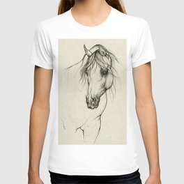 Arabian horse portrait T-shirt