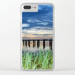 ghost pier Clear iPhone Case