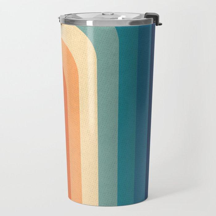 Retro 70s Color Palette III Travel Mug