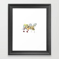 Tipsy Couple Framed Art Print
