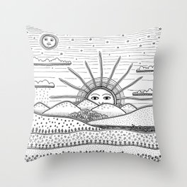 It's coming Throw Pillow