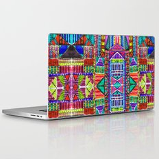 Tribal Patchwork Blue Laptop & iPad Skin
