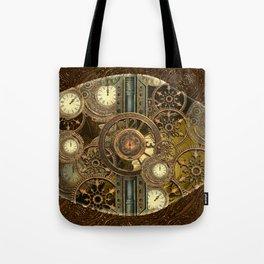 Steampunk, awesome clocks Tote Bag