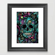 Skull Camouflage Framed Art Print