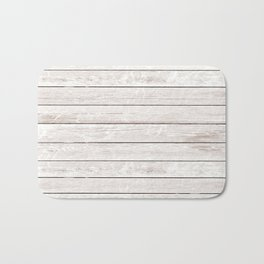 Rustic ivory white vintage wood Bath Mat