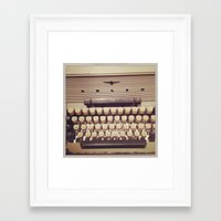 typewriter Framed Art Prints featuring typewriter by Bunny Noir