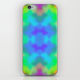 Rainbow Multicolored Watercolor Abstract Tie Dye iPhone Skin