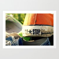 converse Art Prints featuring Converse by americansummers