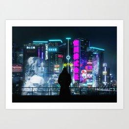 Cyber City Art Print