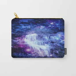 Magical Waterfall Blue Purple Carry-All Pouch