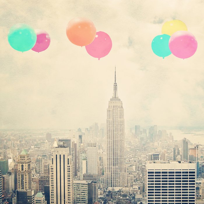 Balloons over the City Comforters