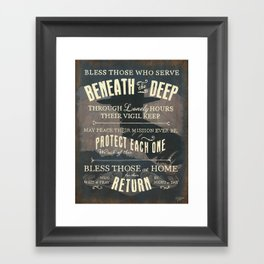 Submariner's Hymn (submarine version) Framed Art Print