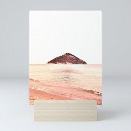 Coral Shades Minimal Beach Scape Mini Art Print