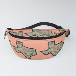 Texas Pink Background Fanny Pack