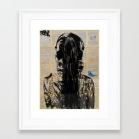 sonic youth Framed Art Prints featuring Sonic by LouiJoverArt