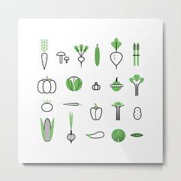 Vegetables set Metal Print