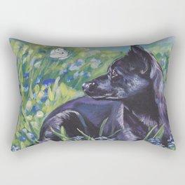 beautiful Australian Kelpie dog art from an original painting by L.A.Shepard Rectangular Pillow
