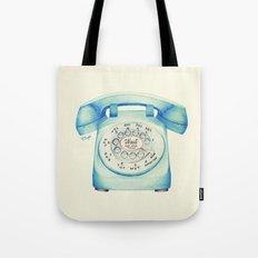 Rotary Telephone - Ballpoint Tote Bag