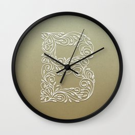 Botanical B Wall Clock