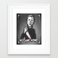 "michael myers Framed Art Prints featuring Michael Myers from ""Halloween"" (1978) by Andysocial Industries"