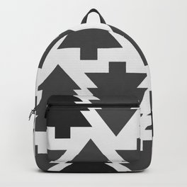 Gothic christmas trees | Grey | Trees | Pines Backpack