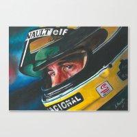 senna Canvas Prints featuring Ayrton Senna by Sprite Ideas