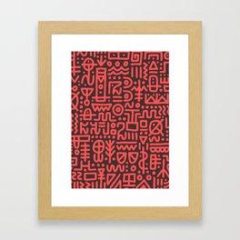 Mark of the Unamed Framed Art Print