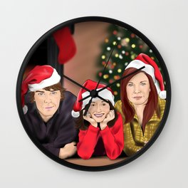 Merry Christmas - Argent Family Wall Clock