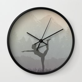Morning Yoga Wall Clock