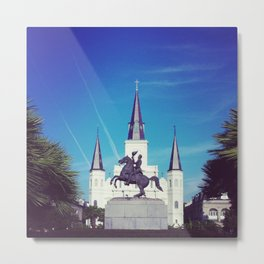 New Orleans St Louis Cathedral Metal Print