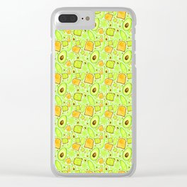 Let's 'Avo Toast - Green Clear iPhone Case