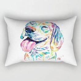 Beagle Painting Rectangular Pillow