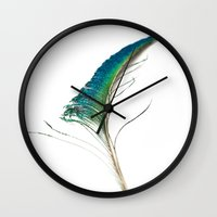 sword Wall Clocks featuring Peacock Sword by Steve Purnell